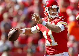 Alex Smith, pictured here, throwing one of his favorite check downs.