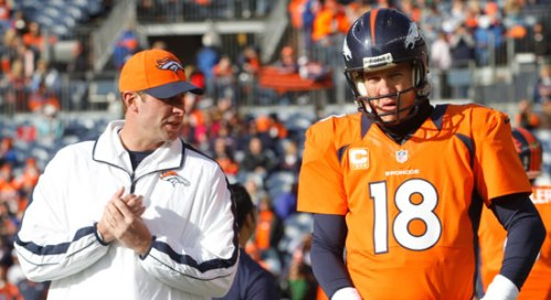 """Hey Peyton, gonna let me call any plays today? No? Oh, okay."""