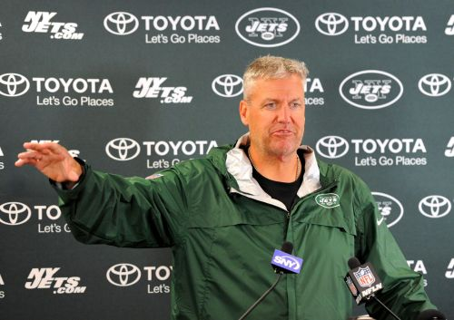 Rex patting invisible Geno Smith on the head for an okay season.