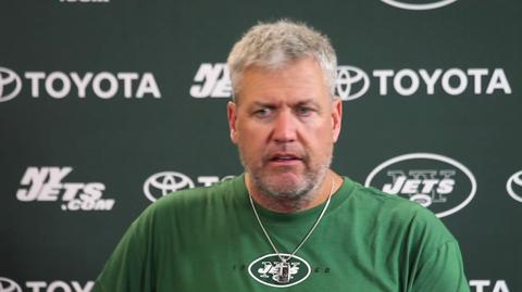 A freaked out Rex Ryan after watching QB drills during training camp